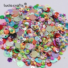 Lucia confettis à Paillettes ensemble 20g/lot   Artisanat, tasses à Paillettes, tailles/formes variées, accessoires de couture et de mariage D0902