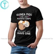 Hamster T Shirt Guinea Pigs Are Like Potato Chips T-Shirt Male Graphic Tee Shirt Short-Sleeve 4xl Tshirt
