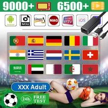 Stable mondial 1 an Android tv box M3U 3 appareils arabe inde italie Europe espagne España TV XXX M3U Smart TV gratuit test indice