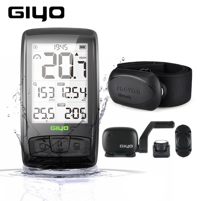 ANT+ /BLE4.0 Wireless Bicycle Computer Mount Holder Bicycle Speedometer Speed/Cadence Sensor Waterproof Cycling Bike Computer