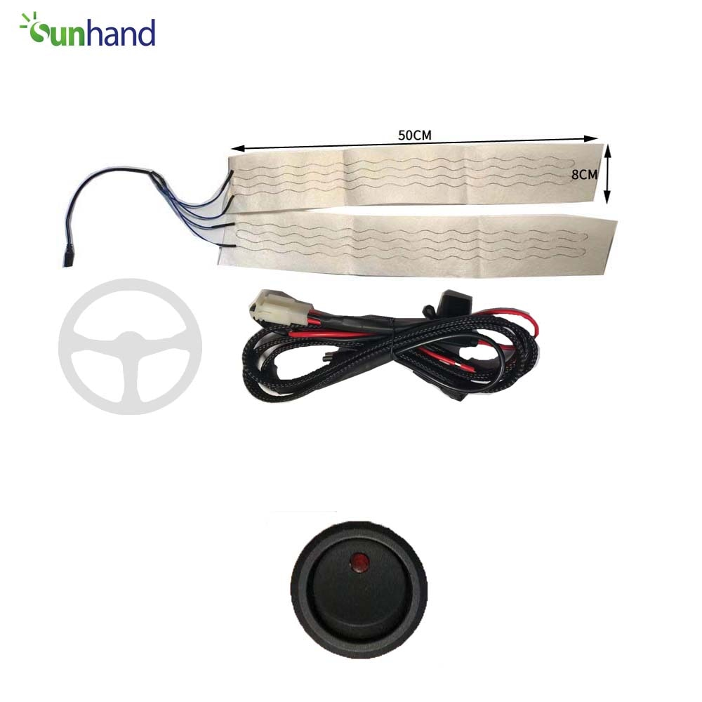 12V heated steering wheel kit with round switch heated steering wheel for car
