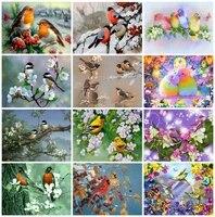 diy round full diamond embroidery bird cross stitch diamond painting full square animlas handicraft art hobby gift home decor