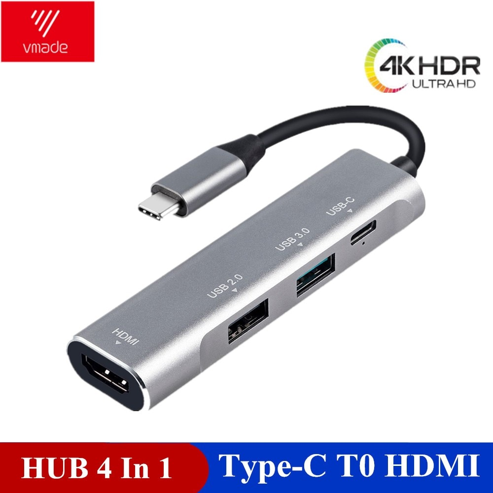 Vmade 4 in 1 USB HUB C Adapter PD port Converter for MacBook Pro Type Huawei P20 Mate 20 3.1