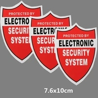 7 6x10cm security system decals sticker pvc water proof decal video warning cctv camera home alarm security 1 pcs