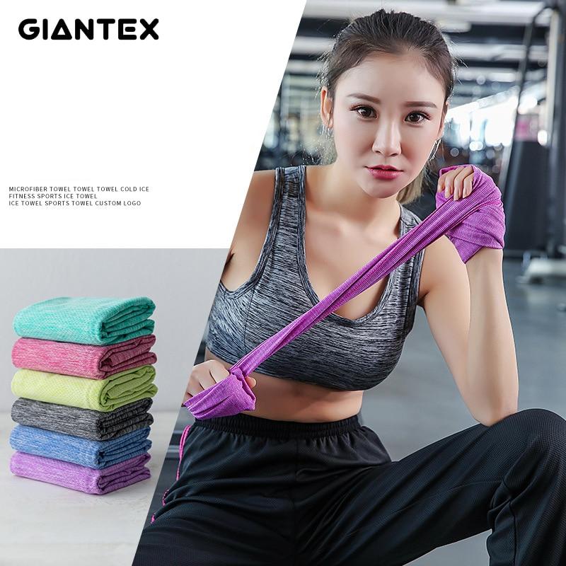 Women Sports Towel Cold Feeling Sweat Cooling Ice Towel Running Travel Gym Towel toallas serviette de bain recznik handdoeken