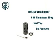 14 мм CCW Thread HK416C Flash Hider, без функции, устройство намордника для Gen9 J9, водный гель, шар, Blaster, страйкбол, AEG