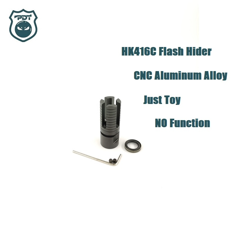 14MM rosca CCW HK416C Flash Hider NO función bozal dispositivo para Gen9 J9 agua bola de gel Blaster airsoft AEG