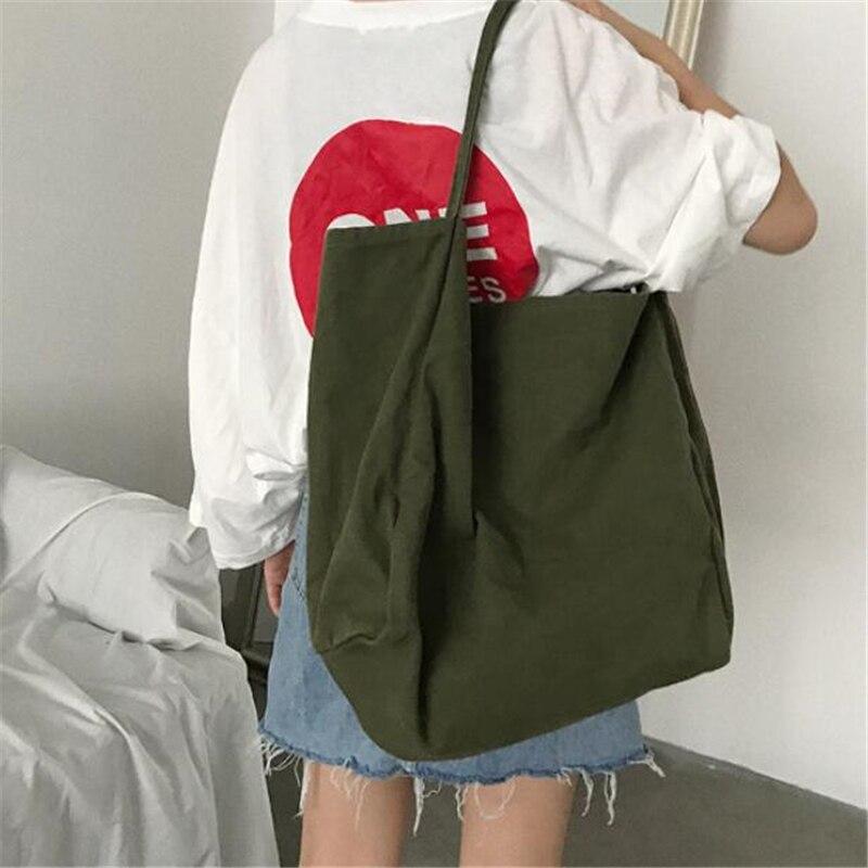 Moda feminina bolsa de ombro grande capacidade feminina bolsa tote dobrável reutilizável sacos de compras fina cinta sacos de pano