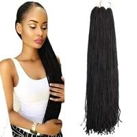 zizi braids crochet box braids synthetic braiding hair extensions blonde balck grey red pink blue purple for women%c2%a0