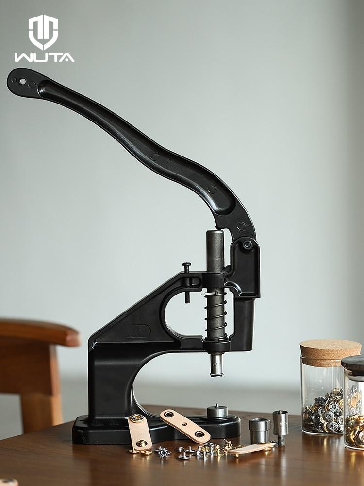 WUTA Neue Manuelle Installation Werkzeug Stanzen, Taste, Befestigungen, öse Presse Maschine Stumm Snap Hand Drücken Maschine Hause Handwerk Werkzeug