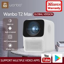 Xiaomi глобальная версия Wanbo T2 Max LCD проектор HD 1080P Вертикальная коррекция всех стеклянных линз портативный проектор