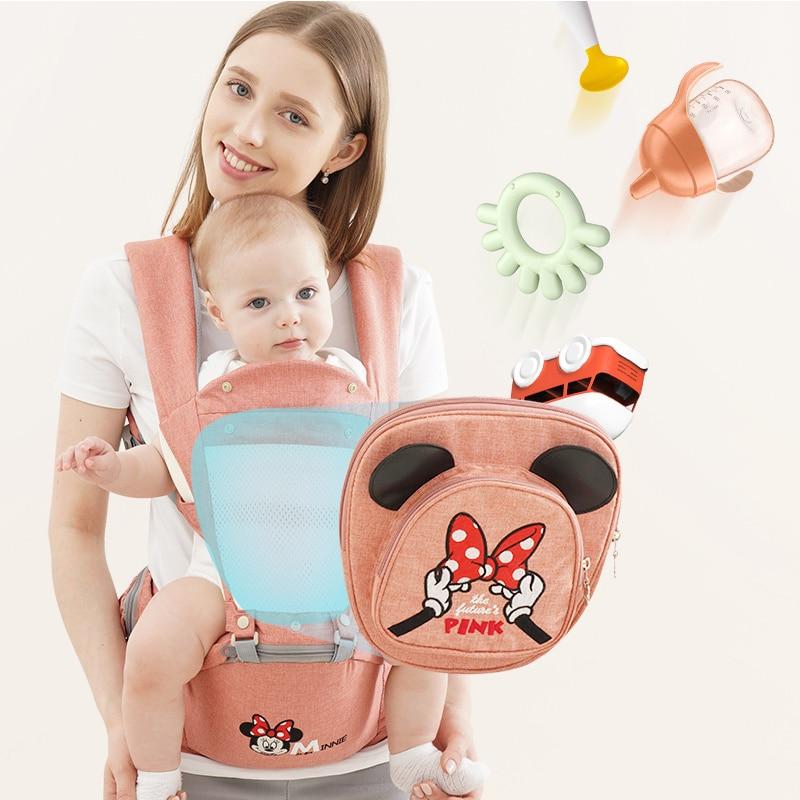 Эргономичный Детский рюкзак-кенгуру Disney, слинг для младенцев, сумка-кенгуру для малышей, сумка-кенгуру с Микки Маусом