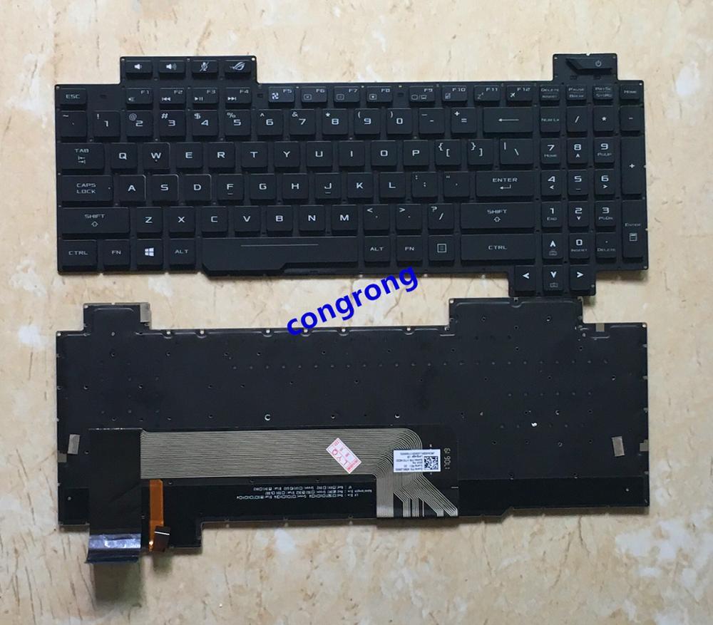 Teclado de retroiluminación para ASUS ROG STRIX GL503VS GL503 GL503V GL503V teclado Inglés para ordenador portátil