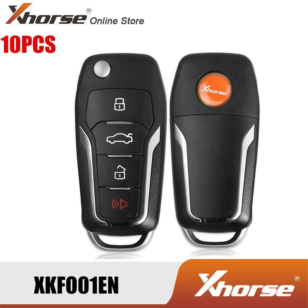 Xhorse XKFO01EN Fio Condor Flip Remoto Chave Para F-ord 4 Botões Podem Ser Movidos Rei Chave Inglês Versão 10 pçs/lote