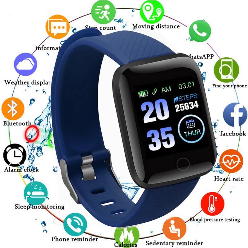 Para reloj de pulsera inteligente 116 PLUS, pantalla a Color, reloj inteligente, medición de la presión arterial, Monitor de ritmo cardíaco, pulsera inteligente D13