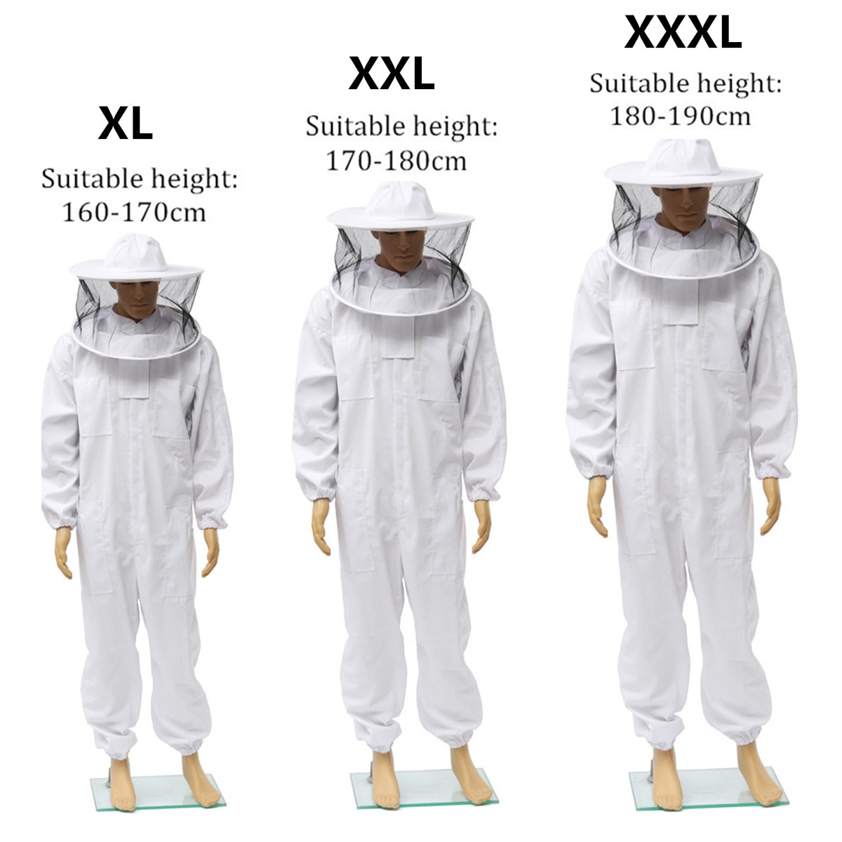 Beekeeping Protective Clothing Full Body Suit Hat Smock Pro Bee Suit Equipment Veil Hat Bee Keeping Protective Clothing