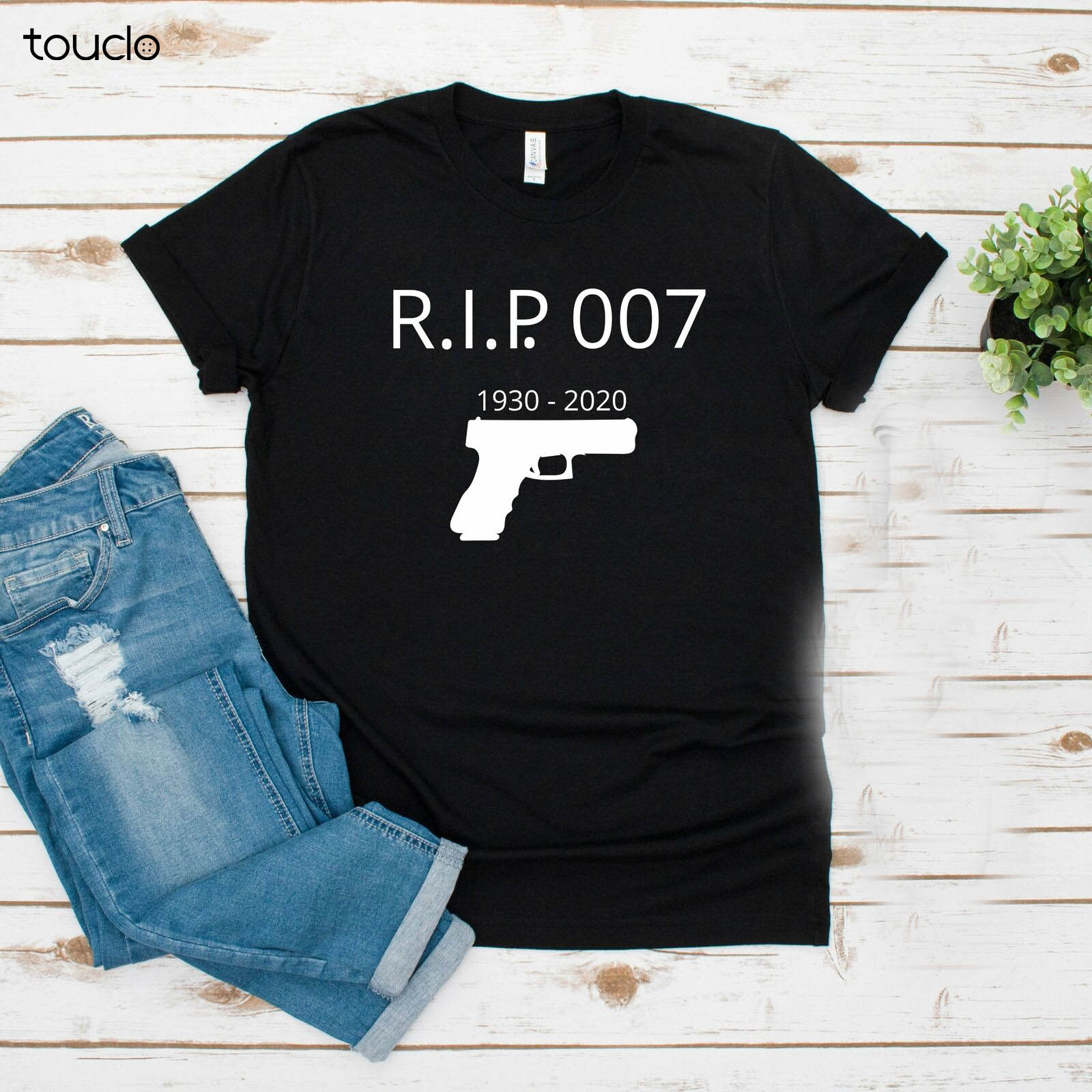 New Rip Sean Connery James Bond 007 Years Of Thank You For The Memories Black Shirt Unisex S-5Xl