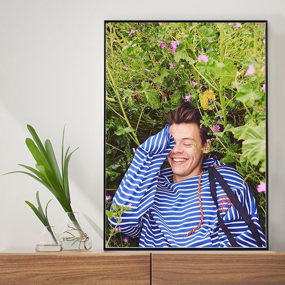 Harry styles retrato de exibição completa quadrado redondo kit diamante mosaico bordado strass imagem decoração para casa ornamentos kit