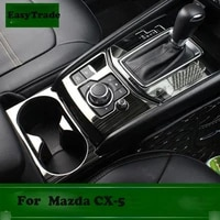 car styling carbon fiber gear shift control panel cover sticker for mazda cx 5 2017 2018 2019 car styling accessories 3pcs