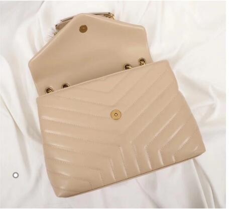 Novo designer de luxo genuíno couro das mulheres bolsa mensageiro bolsa feminina corrente bolsa omb