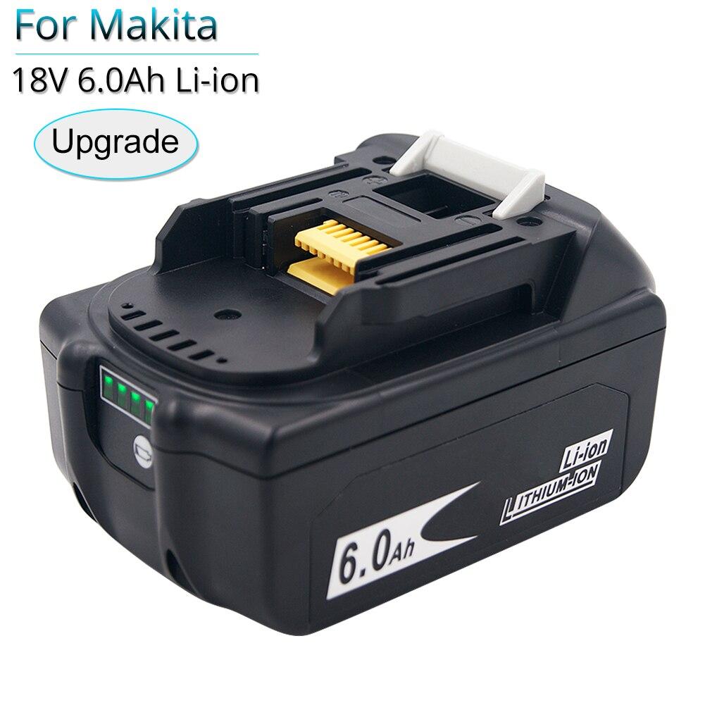 بطارية بديلة 18 فولت 6000 مللي أمبير في الساعة لماكيتا ، بديل لأدوات الطاقة الكهربائية 18 فولت ، BL1830 ، BL1850B ، BL1840B ، BL1815 ، LXT400