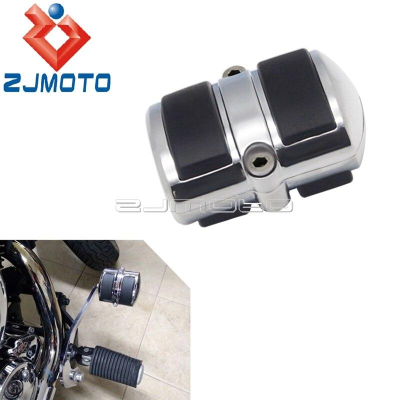 Palanca de cambio de marchas cromada, cubierta de Pedal de freno Peg para Yamaha v-star XVS 650 950 1100 1300, accesorios de moto, cubierta de Pedal de freno