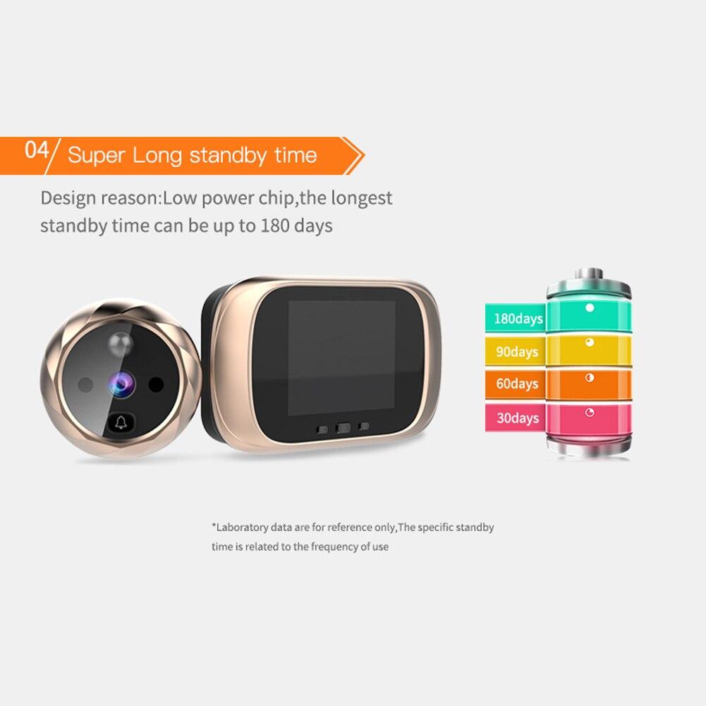 2.8 inch LCD Color Screen Digital Doorbell Smart Electronic Peephole  Night Vision Door Video Camera Viewer Outdoor Door Bell enlarge