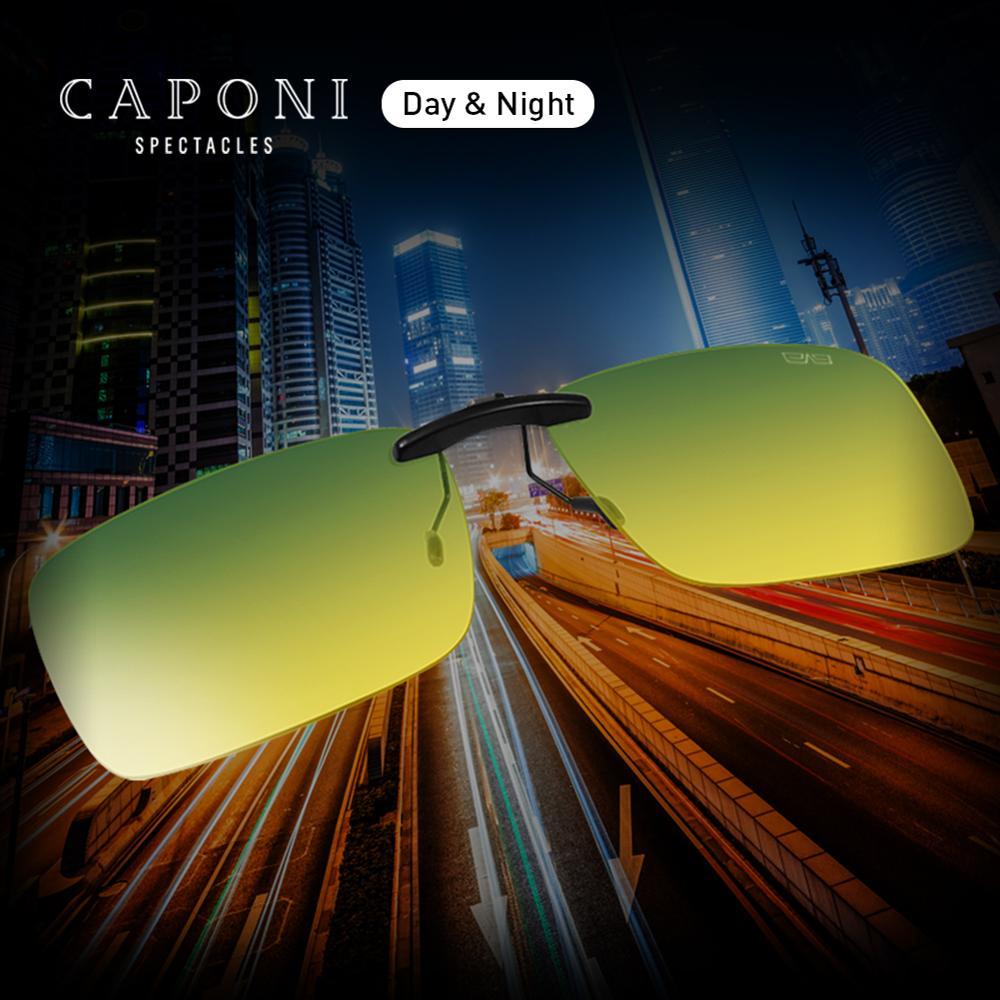 Gafas de sol de día y noche CAPONI Clip polarizado funcional coloreado lentes Clip visión nocturna conducir ojos contactos RY1287