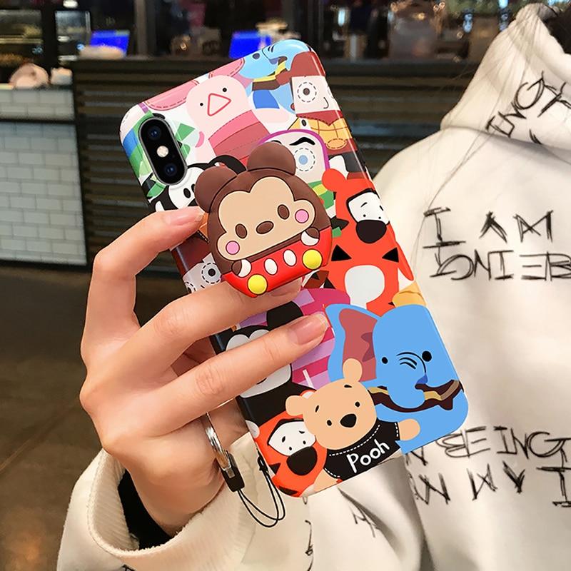 Универсальный держатель для кольца на палец с милым мультяшным котом, подушка безопасности, держатель для смартфона, расширяющаяся ручка, растягивающийся держатель для кольца для сотового телефона