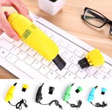 Useful Mini Computer Vacuum USB Keyboard Brush Cleaner Laptop Brush Dust  Kit Household Cleaning Too