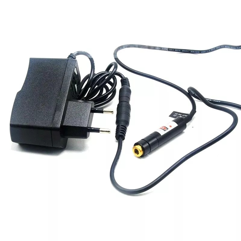 Линия 5 В Луч 5 мВт 650 нм красный лазер локатор модуль w AC адаптер держатель 12x55 мм