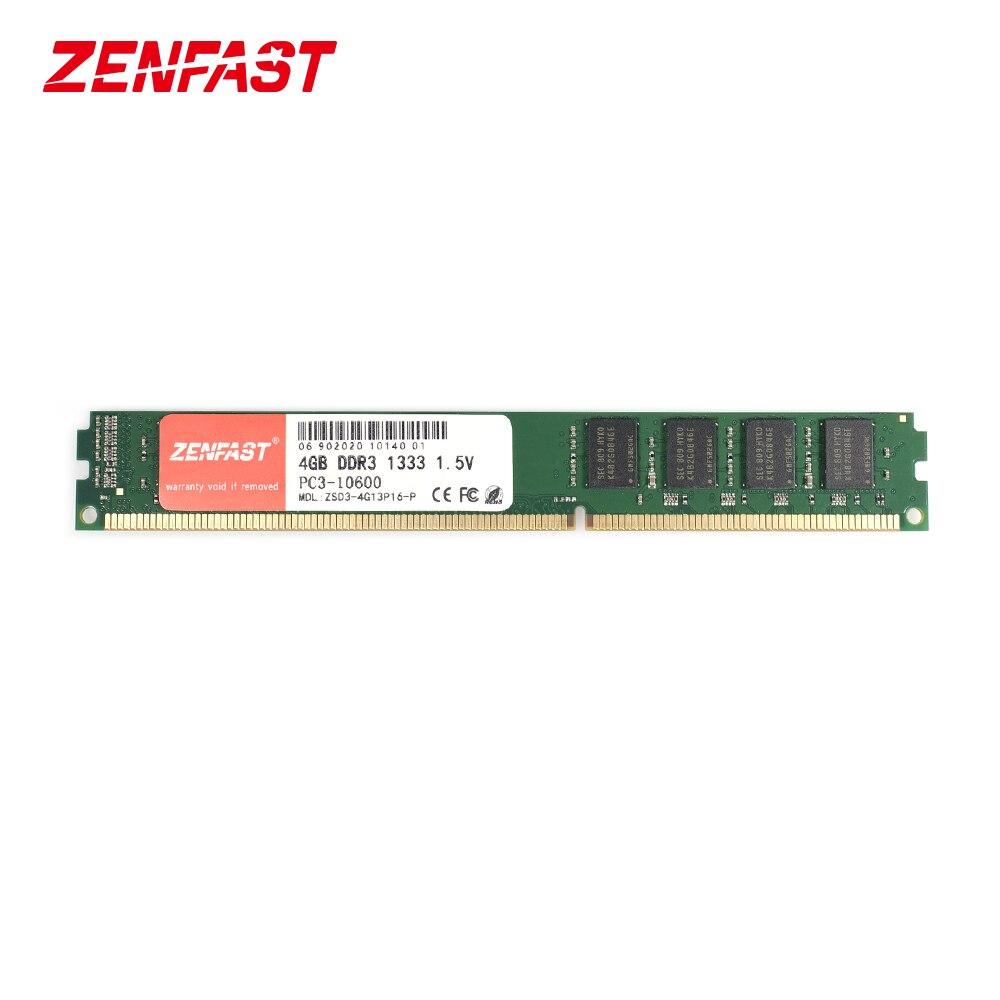 ZENFAST DDR3 4G 8G 1333 1600 MHz 1.5V 240pin ذاكرة عشوائيّة للحاسوب المكتبي ram للكمبيوتر عالي الأداء والجودة العالية والضمان مدى الحياة