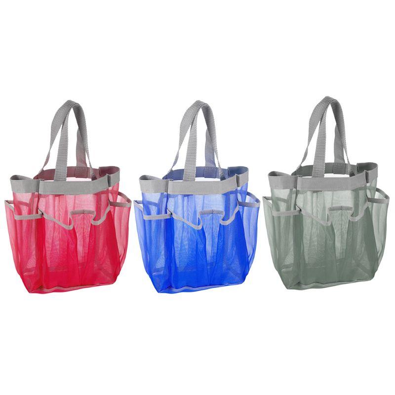 Portátil de secagem rápida chuveiro pendurado caddy sacola com 7 bolso banheiro saco de armazenamento para dormitório/ginásio/acampamento/viagem