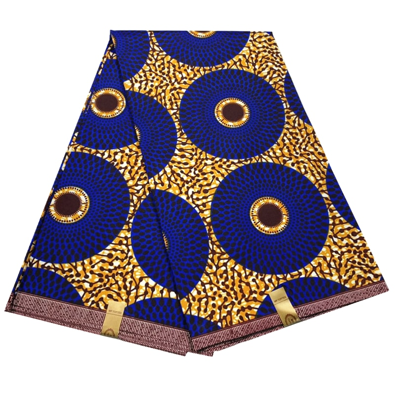 Blesing 100% полиэстер ткань для платья оптовая продажа африканская ткань Африканский Воск Печать tissus африканская печать ткань