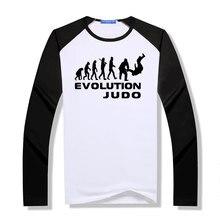 Hommes t-shirt nouveau arrivé hommes évolution de Judo t-shirt hommes raglan à manches longues hip hop cool t-shirt t-shirt homme motif T