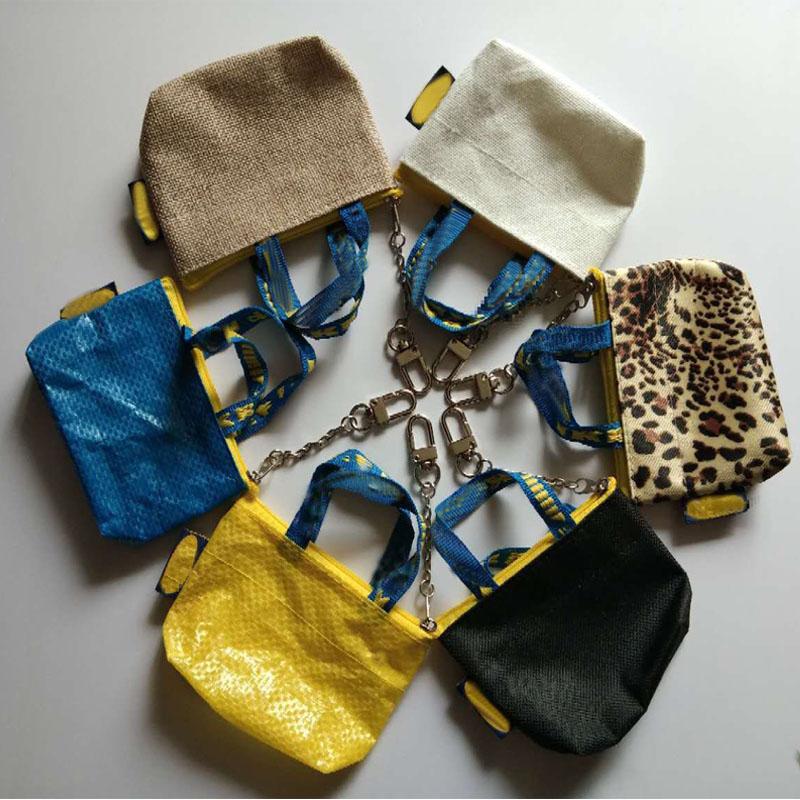 6 farbe Frauen Mode Geldbörse Mini Brieftasche Geld Tasche Schlüsselring Karte Halter Kleine Zip-Tasche Blau Farbe 10,5x7,5 cm
