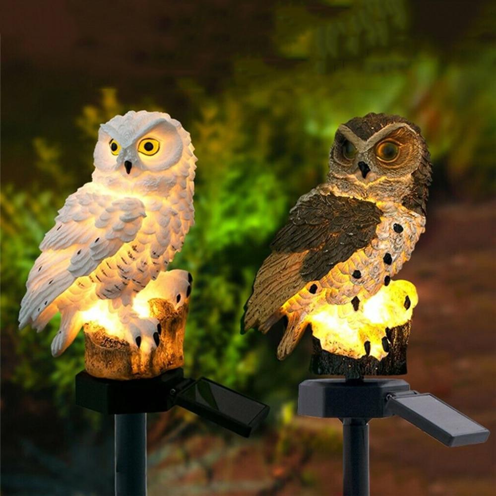New solar resin owl squirrel ground lamp outdoor waterproof hotel courtyard garden villa lawn corridor path lawn lamp
