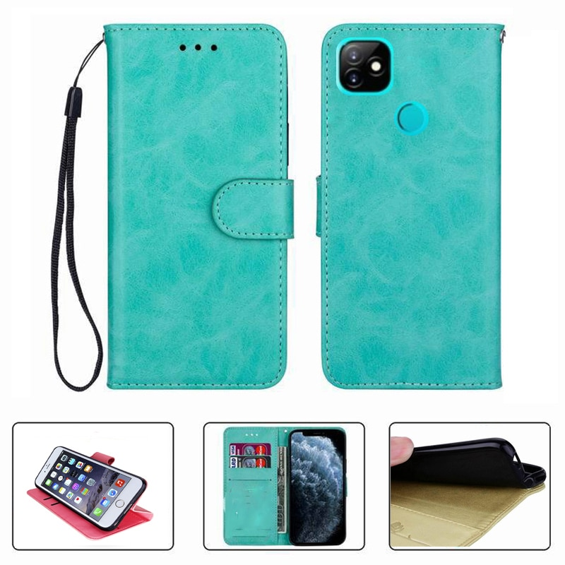 For Itel Vision 1 Pro Vision1 1Pro Wallet Case Flip Leather Back Protector Cover Phone Bag TPU Soft