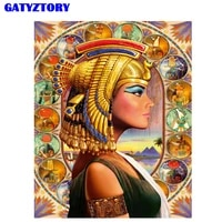 gatyztory frame picture diy painting by numbers figure paint modern wall art canvas painting picture by numbers for home decors