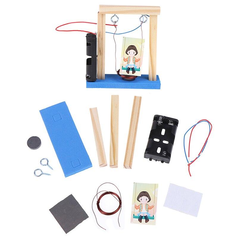 Juego de columpio hecho a mano de la ciencia electromagnética de la madera de la invención 2019 nuevo juguete educativo para los niños regalo de cumpleaños nuevo