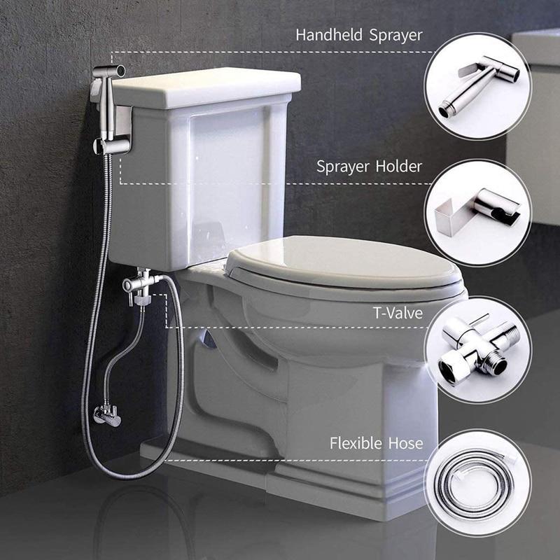 SHGO-بخاخ الحمام الساخن ، مجموعة رش المرحاض ، قماش محمول باليد ، بخاخ الحمام ، مع خرطوم