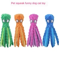 8 legs octopus soft stuffed plush squeaky dog squeakers toy sounder sounding paper middle big sized dogs frenchbull