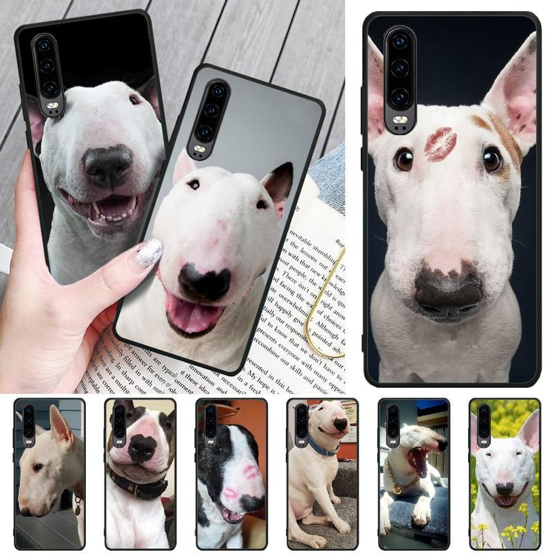 LJHYDFCNB Bull Terrier DIY Impresión de cubierta de la caja del teléfono de Shell para Huawei P8 lite 2017 P9 P10 20Pro Lite Pro P30lite P Smart 2019