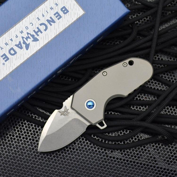 Benchmade 756 Mini Folding Knife Defenses Tool High Quality Titanium Alloy M390 High Hardness Pocket Knives EDC DJ14