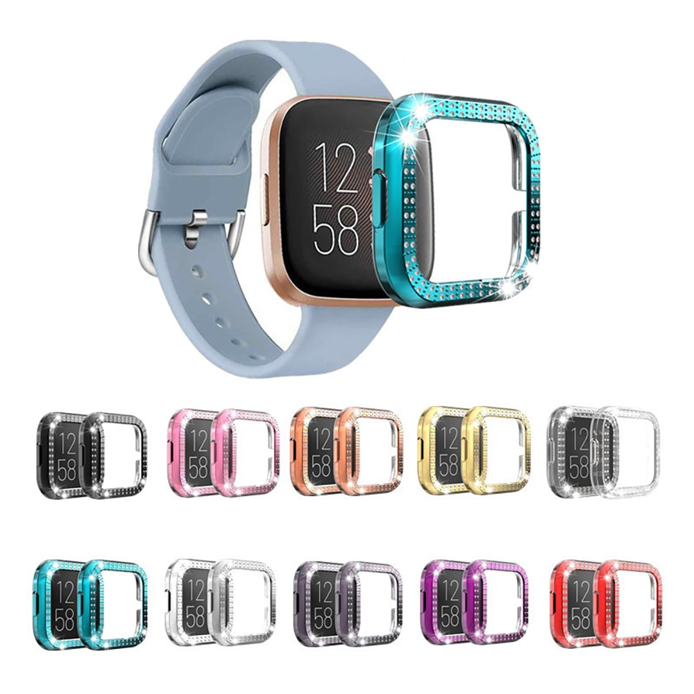Bling Protector Case for Fitbit Versa / Versa 2 Girl Jewelry Crystal Diamond Watch Protection Bumper