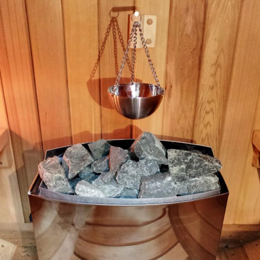Bol para aceite de aromaterapia para Sauna, recipiente de acero inoxidable para aceites esenciales para Sauna y Spa, Material de madera