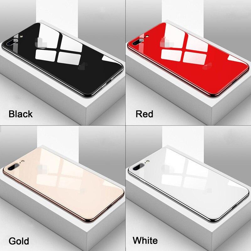 Lujosa carcasa de cristal templado con espejo galvanizado para iPhone 11 Pro Max, carcasa rígida fina para Apple iPhone 7 8 6s 6 Plus X XR XS Max