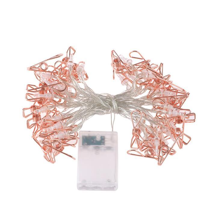 Abrazadera de hierro Cadena de lámpara Navidad día cumpleaños niña corazón Decoración habitación lámpara cadena ins