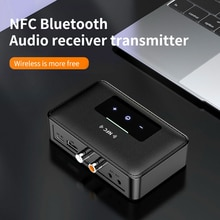 Bluetooth 5.0 Transmitter Receiver Wireless 3.5mm NFC To 2 RCA Audio Adapter For TV Headphones PC Ho