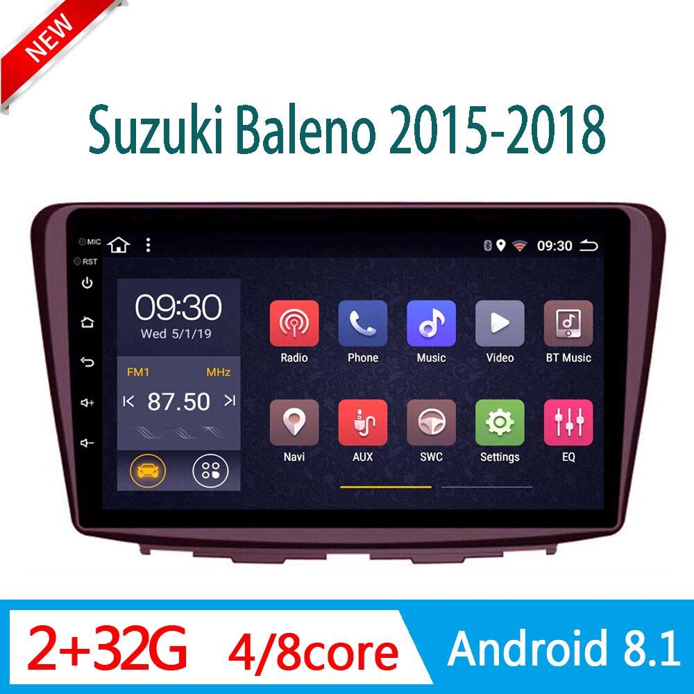 2 gramos reproductor de DVD de coche para Suzuki baleno 2015-2018 auto radio estéreo sistema multimedia soy DSP WIFI enlace espejo 1 din Android
